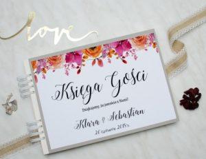kwiecista księga dla gości wesela