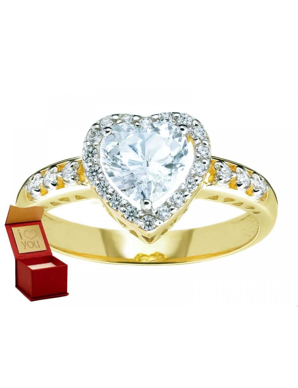 Złote pierścionki zaręczynowe